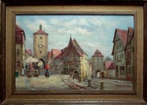 A.Junke, Ansicht von Rothenburg